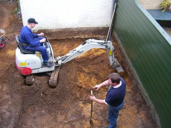 Uitgraven tuin